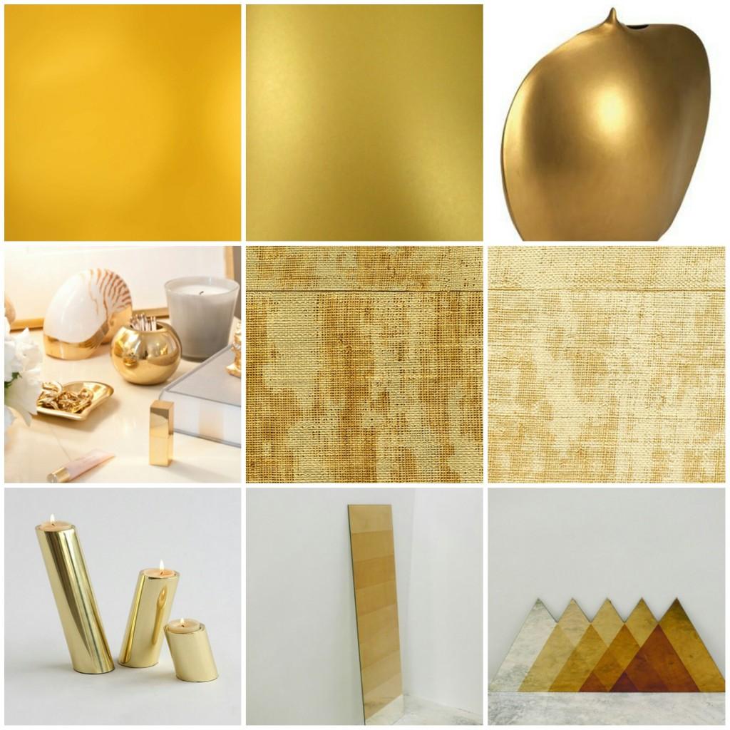 dorado en diferentes tonos y texturas