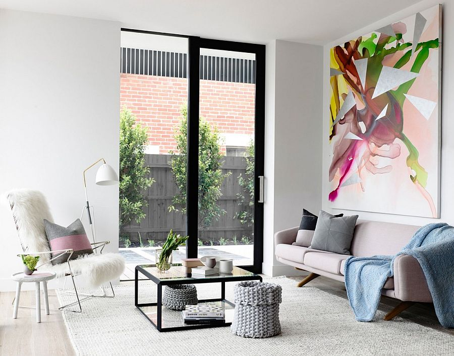 Apartamento en tonos pastel Melbourne - Salon