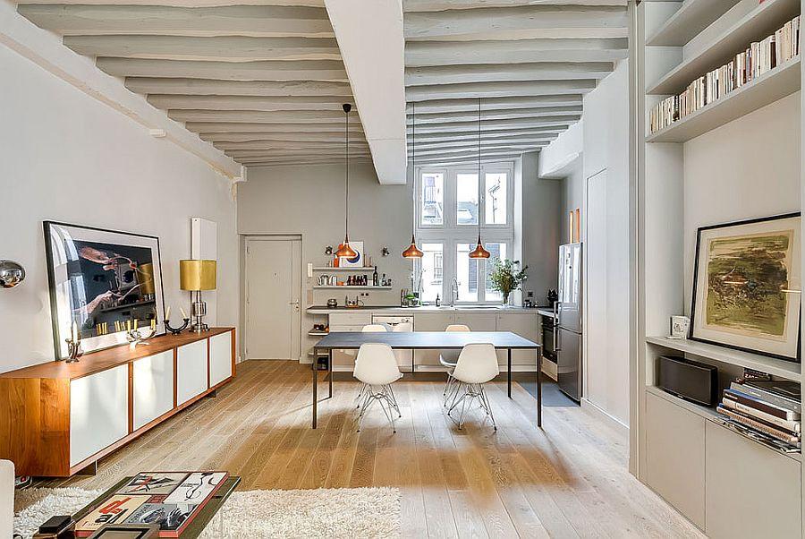Apartamento moderno y renovado en Paris - salon comedor