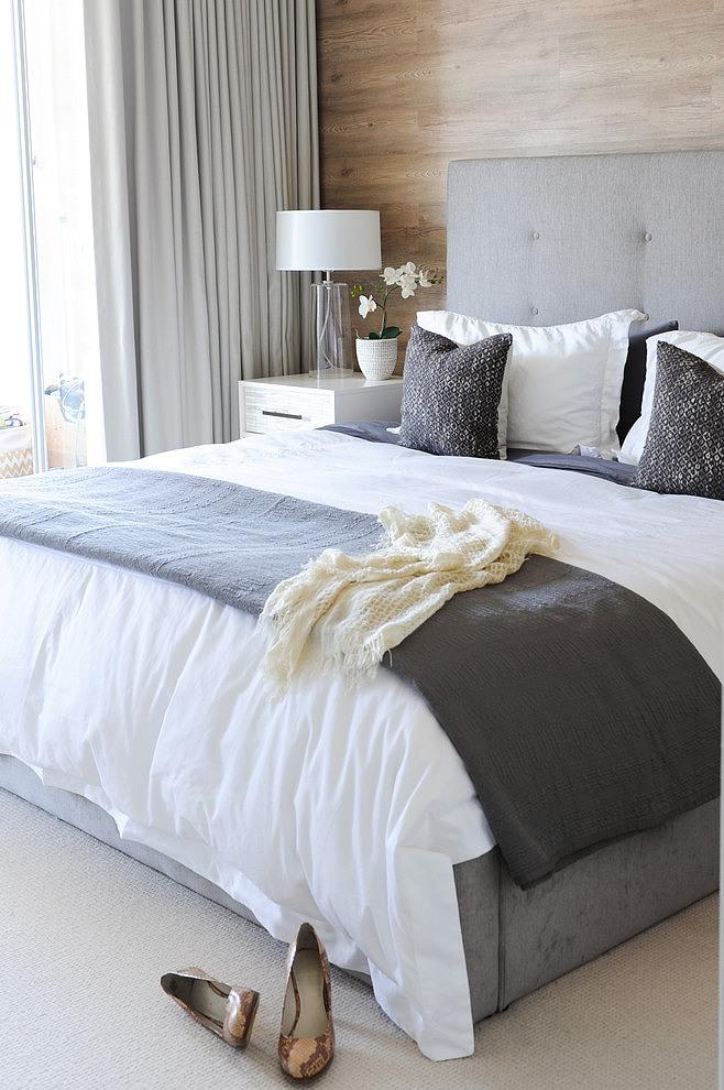 Piso blanco y gris - dormitorio