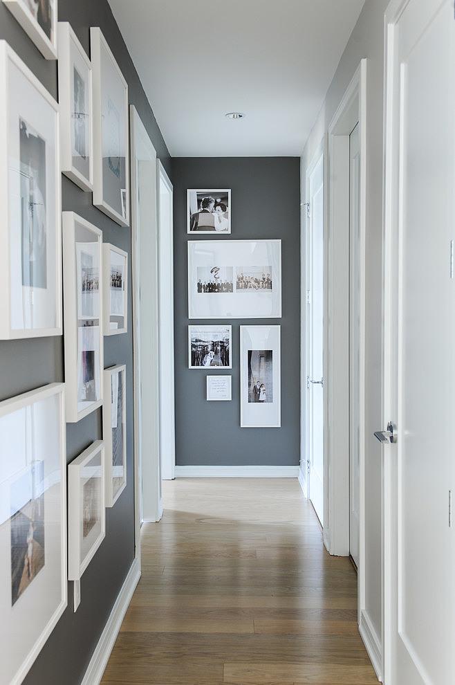 Piso blanco y gris - pasillo