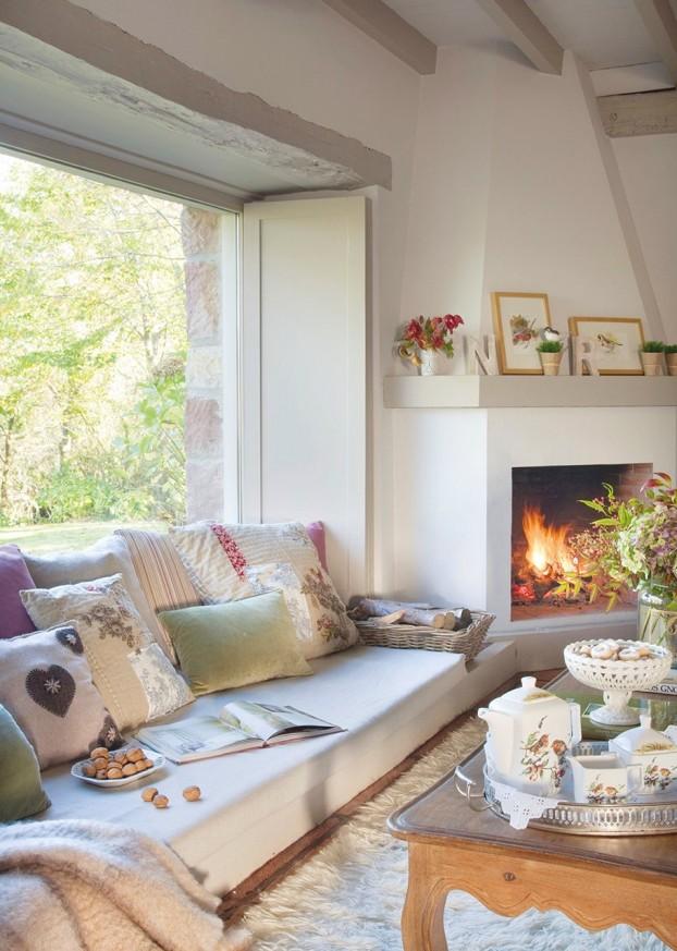 salon con chimenea (el mueble)