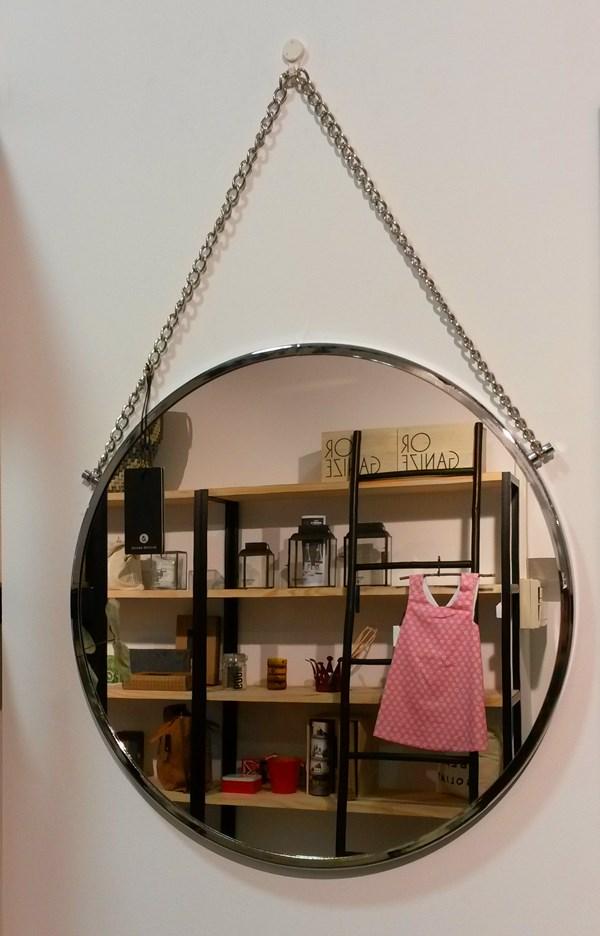 Espejo redondo vintage House Doctor