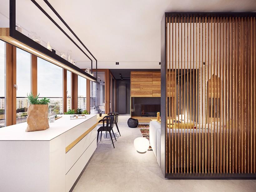 apartamento urbano en Varsovia cocina 2