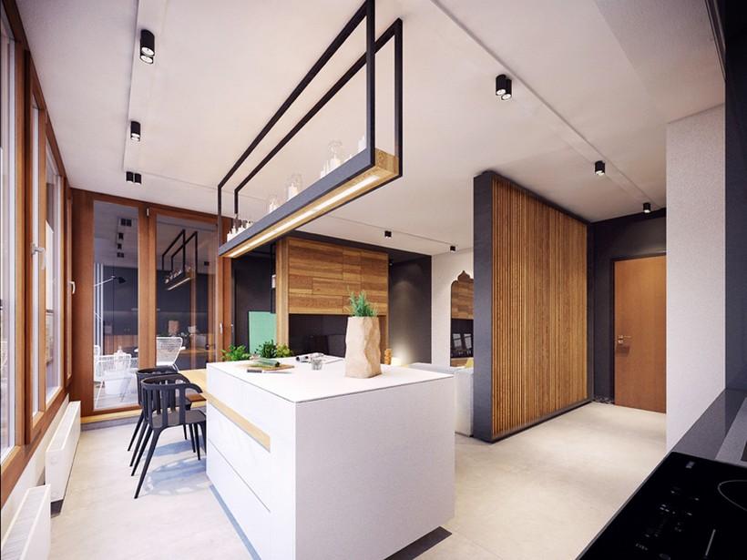 apartamento urbano en Varsovia cocina