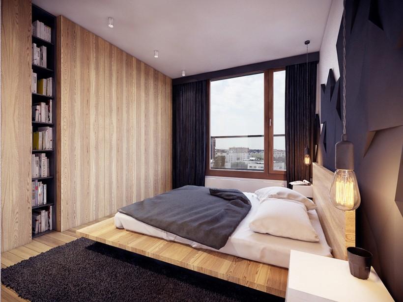 apartamento urbano en Varsovia dormitorio 2