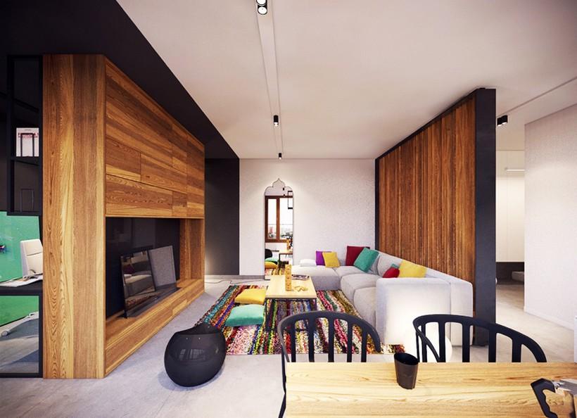 apartamento urbano en Varsovia salon 3