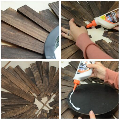 como hacer un espejo de sol de madera