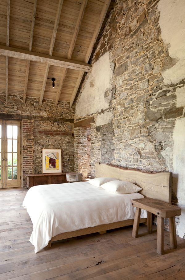 dormitorio madera natural bloodandchampagne