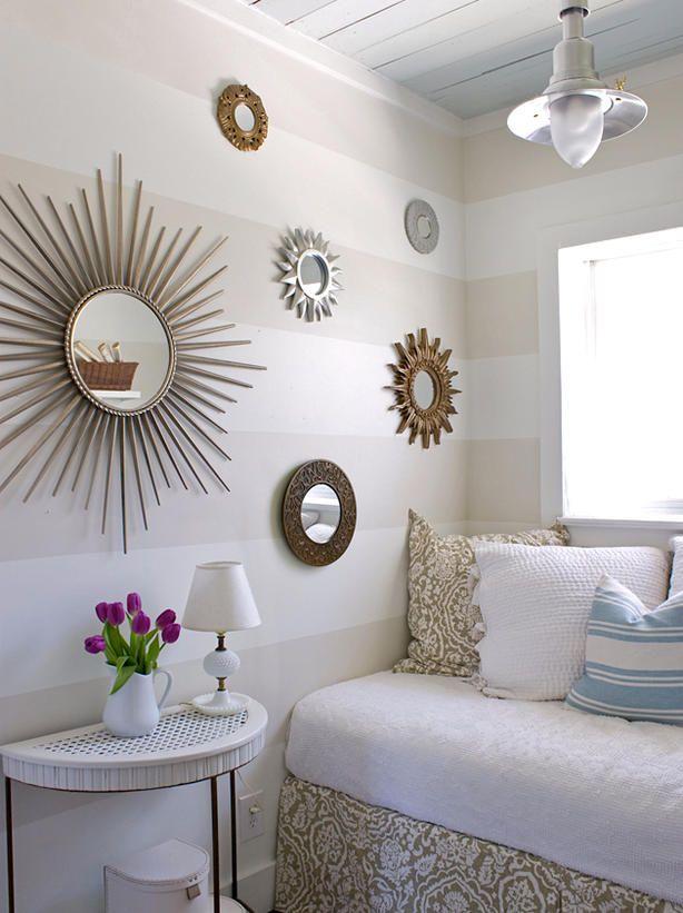 habitacion con espejos de sol hgtv