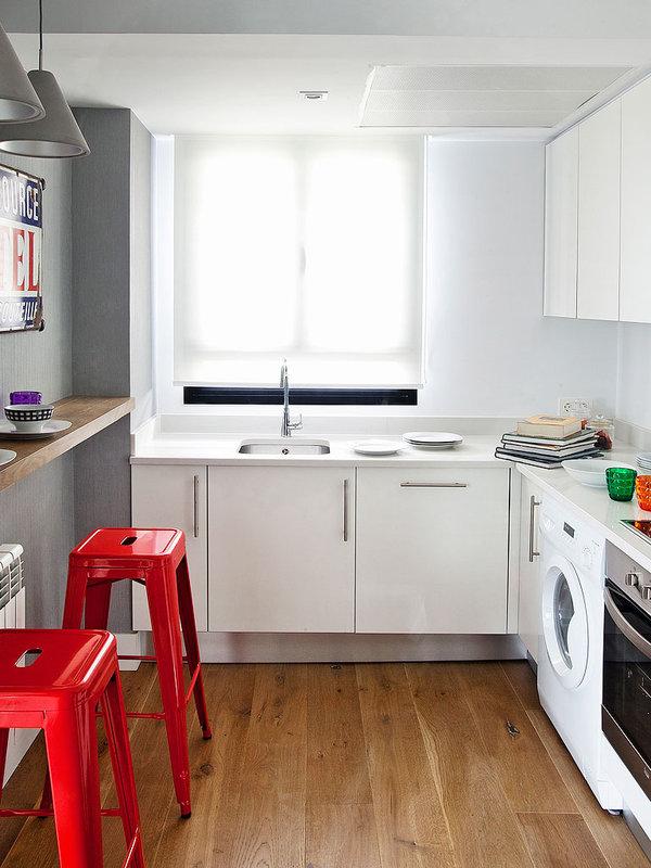 piso elegante sofisticado y femenino cocina