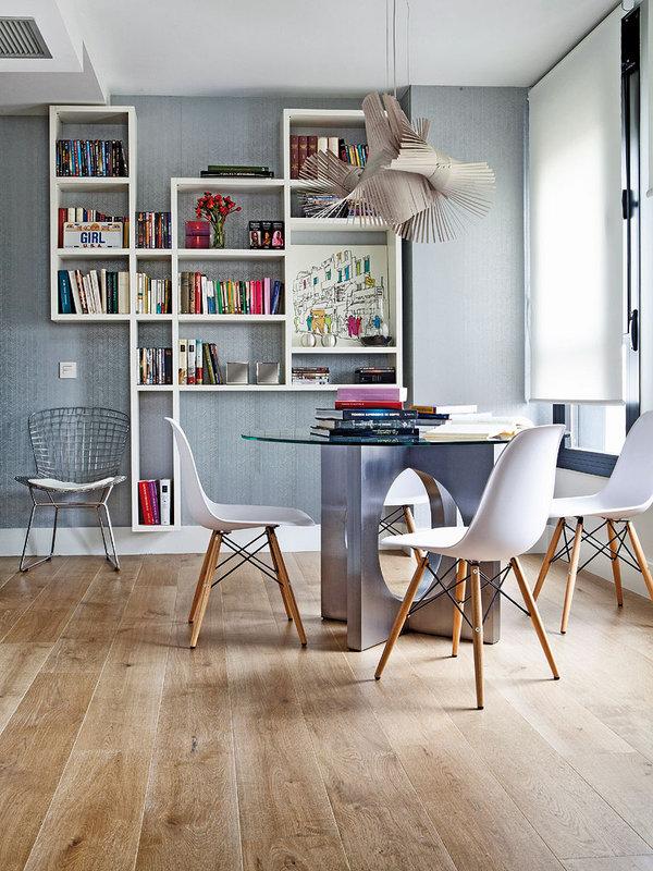piso elegante sofisticado y femenino comedor
