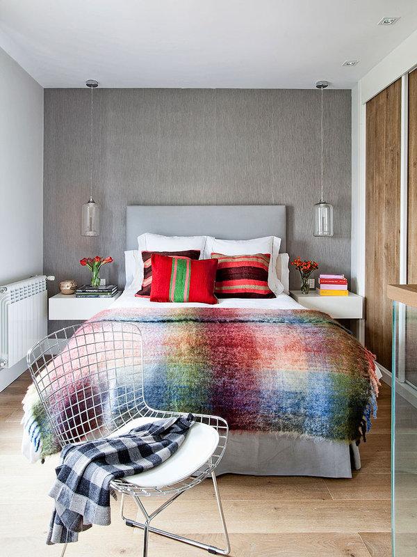 piso elegante sofisticado y femenino dormitorio