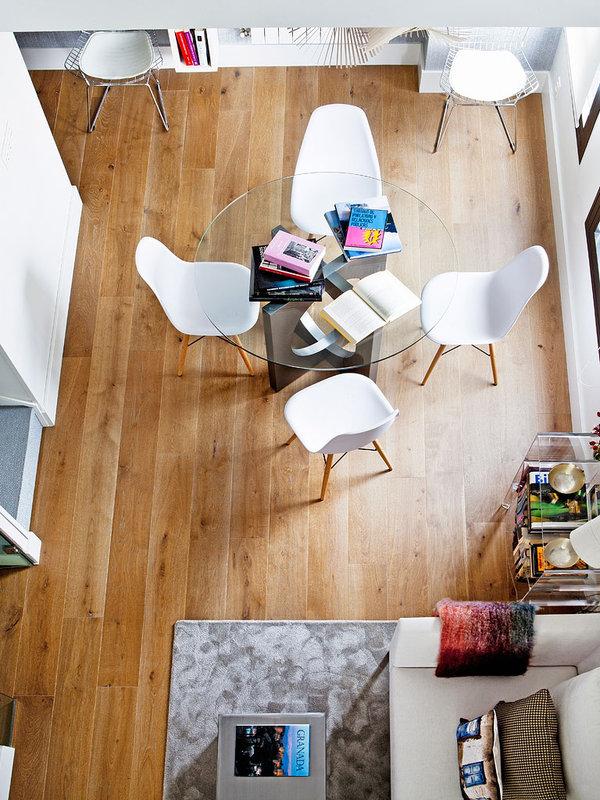 piso elegante sofisticado y femenino salon comedor suelo natural
