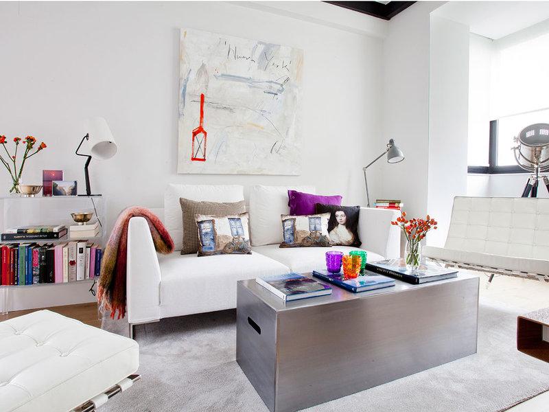 piso elegante sofisticado y femenino salon