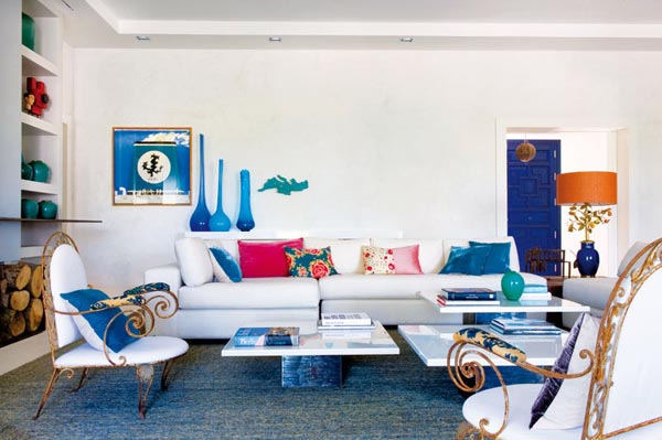 salon en blanco y azul. inspiredbythis