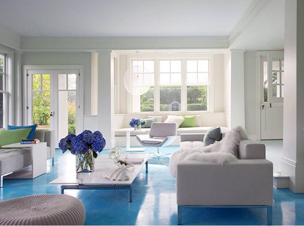 salon en blanco y azul. stylebyemilyhenderson