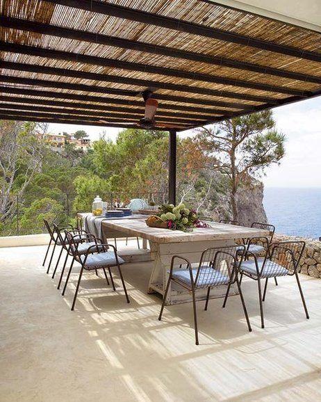 Hormigon-cemento pulido terraza comedor - micasarevista