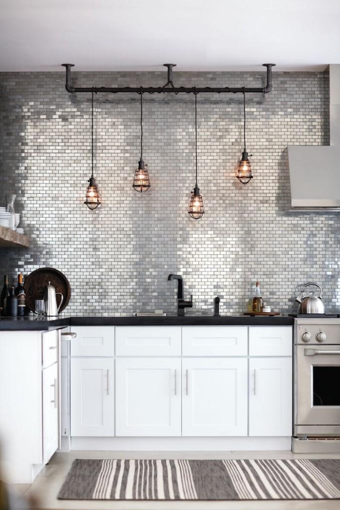 Mosaico de metal - Cocina Home Depot