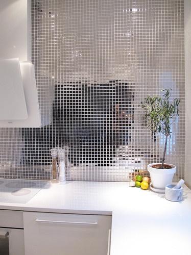 Mosaico de metal - Cocina Houzz