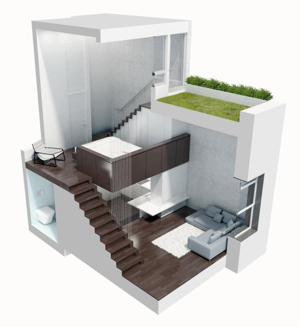 Reforma loft NYC - despues proyecto 3D