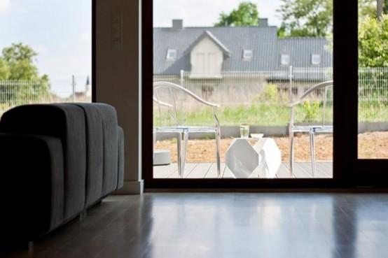 Casa en blanco y negro - Vista a terraza