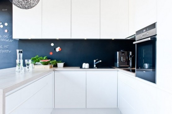 Casa en blanco y negro - cocina 3