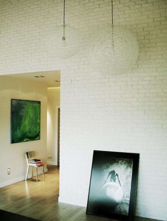 Casa en blanco y negro - detalles