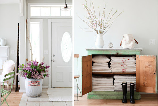 Country chic - entrada interior