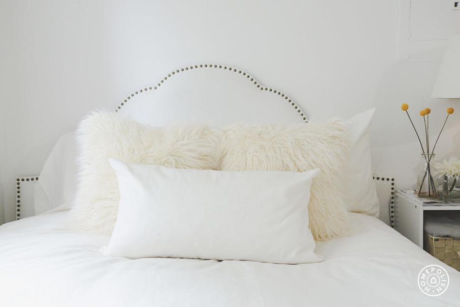 Estudio glam en NYC - dormitorio cabecero