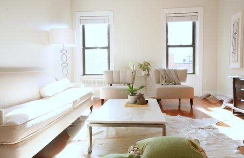 Reforma apartamento Brooklyn - Despues salón butacas
