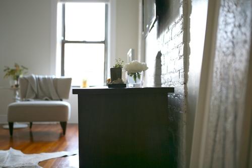 Reforma apartamento Brooklyn - Despues Pared ladrillo