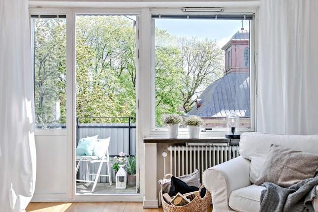 Romanticismo en blanco y azul - acceso terraza 2