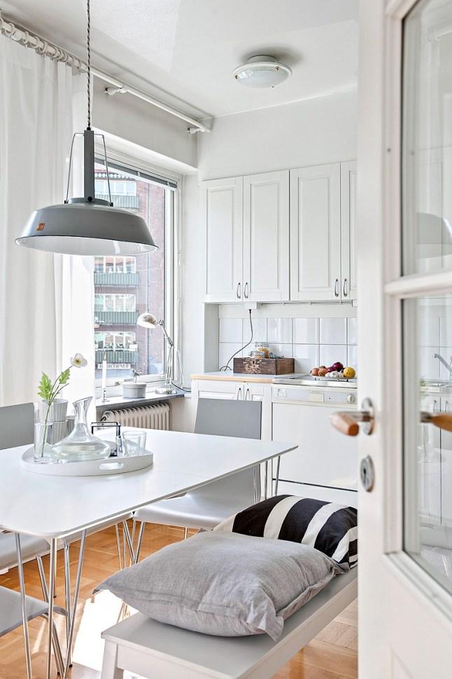 Romanticismo en blanco y azul - cocina 2