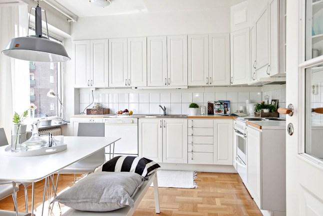 Romanticismo en blanco y azul - cocina