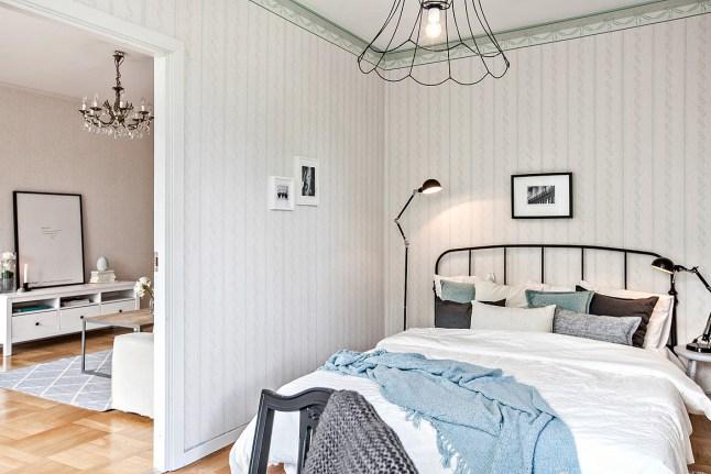 Romanticismo en blanco y azul - dormitorio