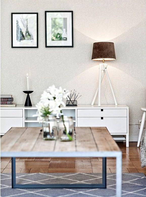 Romanticismo en blanco y azul - mueble salon