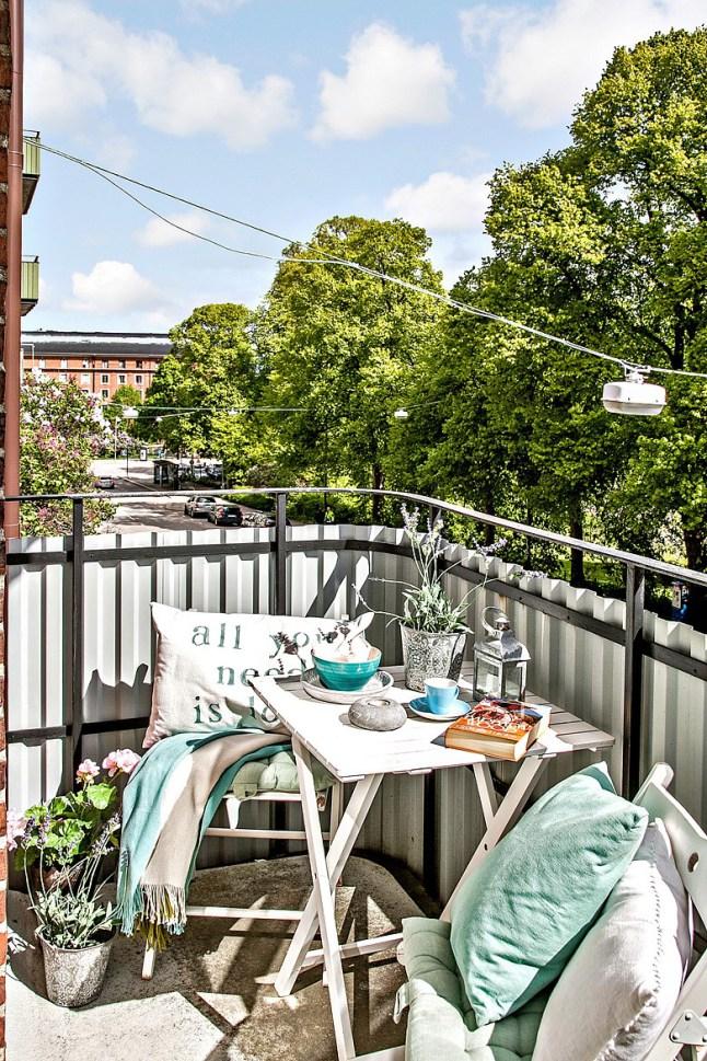 Romanticismo en blanco y azul - terraza 2