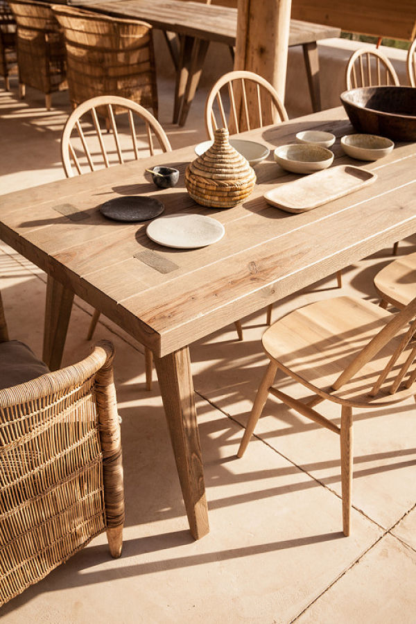 Hotel Scorpios Mykonos - comedor al aire libre detalle