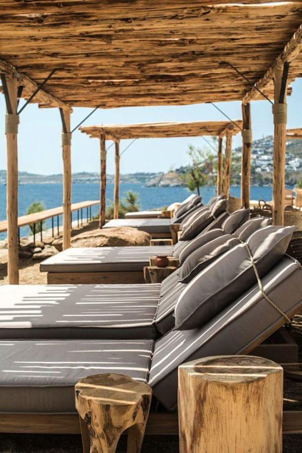 Hotel Scorpios Mykonos - hamaca de exterior detalle