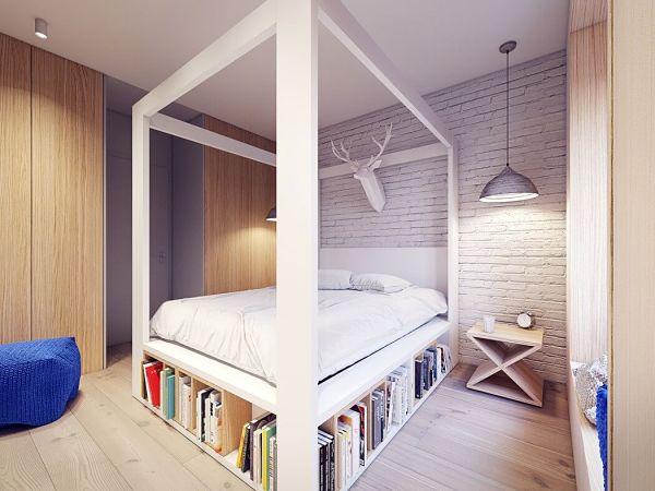 Moderno en Varsovia - dormitorio