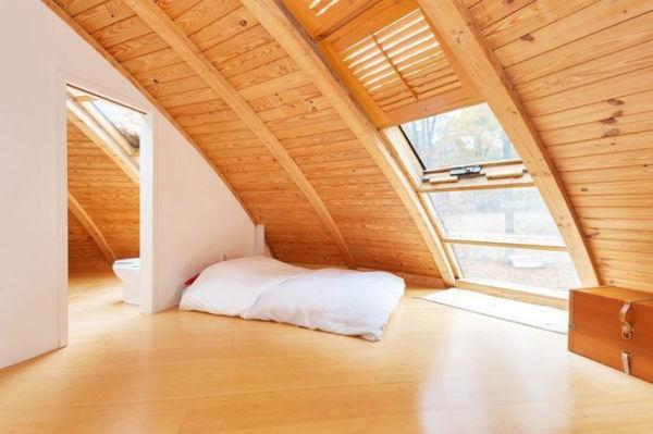 casa que gira - interior dormitorio