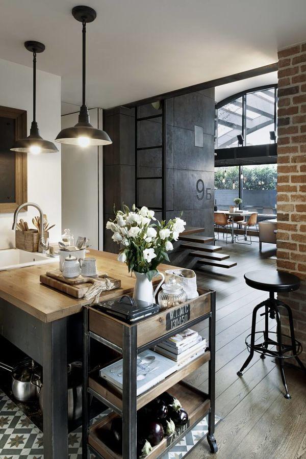 loft masculino - cocina