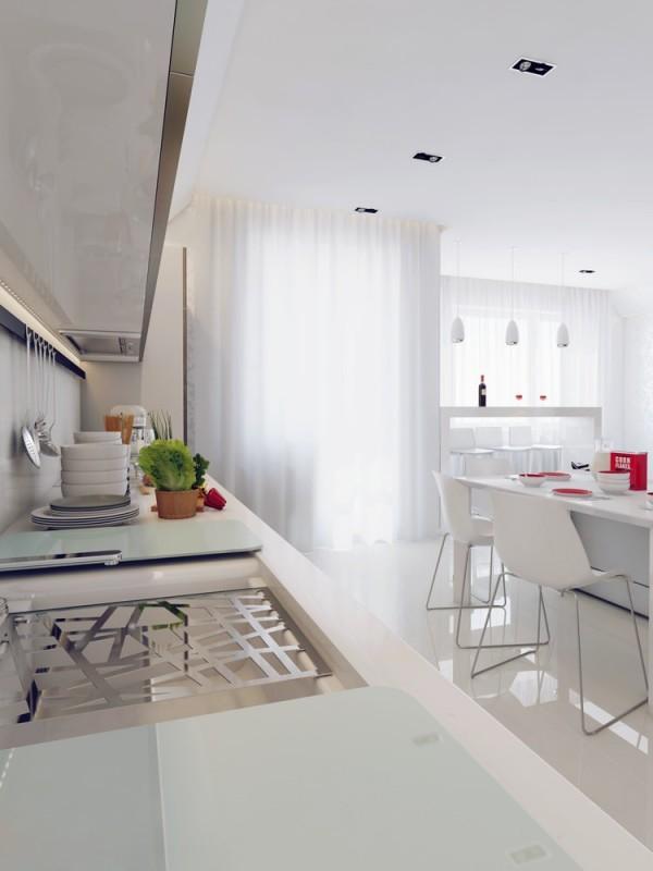 Apartamento blanco - cocina
