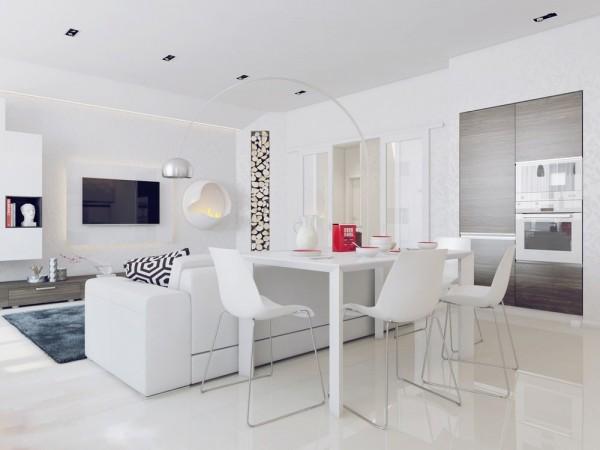 Apartamento blanco - comedor