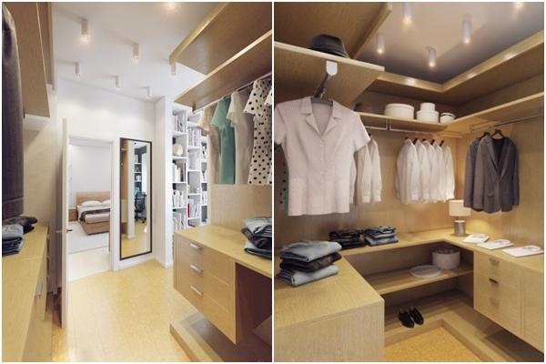 Apartamento blanco - vestidor
