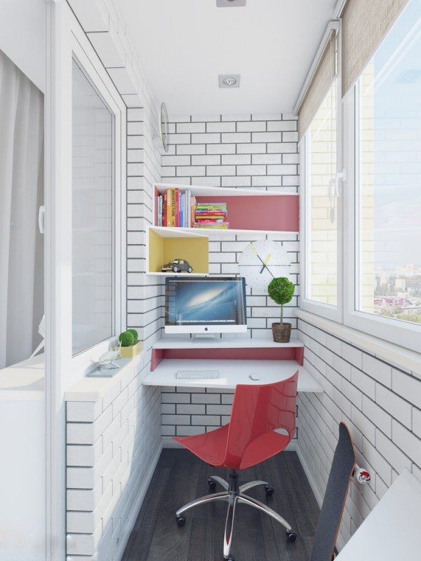 Apartamento blanco - workspace b