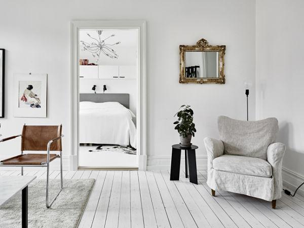 Blanco y negro - Vista dormitorio