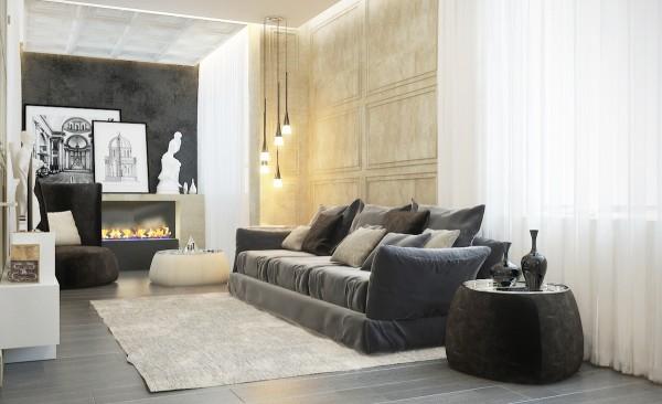 Contemporaneo y clasico - sofa salon