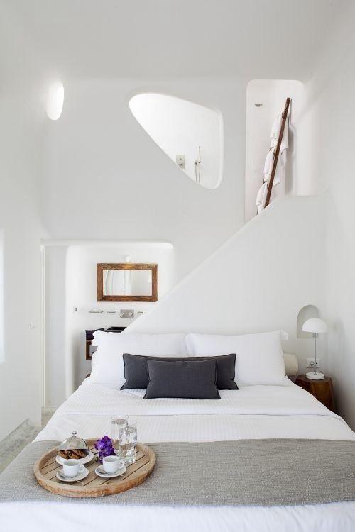 Dormitorio verano estilo griego